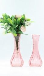 Lọ hoa thủy tinh mẫu cổ nhỏ (màu hồng tím)