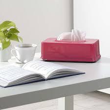 Hộp đựng giấy ăn màu hồng